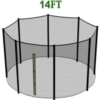 Greenbay Replacement Trampoline Safety Net Enclosure Surround Netting, 14FT - 8 Pole - GREEN BAY