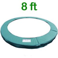 Greenbay 8FT Replacement Trampoline Surround Pad Foam Safety Guard Spring Cover Padding Pads Green - GREEN BAY