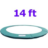 Greenbay Replacement Trampoline Surround Pad Foam Safety Guard Spring Cover Padding Pads Green 14FT