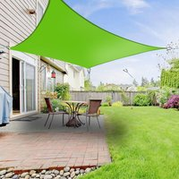 Greenbay Sun Shade Sail Garden Patio Party Sunscreen Awning Canopy 98% UV Block Square Light Green 5x5m
