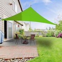 Greenbay Sun Shade Sail Garden Patio Party Sunscreen Awning Canopy 98% UV Block Triangle Light Green 2x2x2m