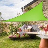 Greenbay Sun Shade Sail Garden Patio Party Sunscreen Awning Canopy 98% UV Block Triangle Light Green 3.6x3.6x3.6m