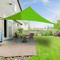 Greenbay Sun Shade Sail Garden Patio Party Sunscreen Awning Canopy 98% UV Block Triangle Light Green 5x5x5m