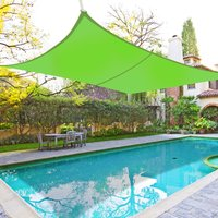 Greenbay Sun Shade Sail Garden Patio Yard Party Sunscreen Awning Canopy 98% UV Block Rectangle Light Green 3x2m - GREEN BAY