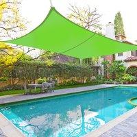 Greenbay Sun Shade Sail Garden Patio Yard Party Sunscreen Awning Canopy 98% UV Block Rectangle Light Green 3x2m