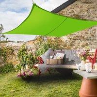 Greenbay Sun Shade Sail Garden Patio Yard Party Sunscreen Awning Canopy 98% UV Block Rectangle Light Green 4x3m