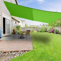Greenbay Sun Shade Sail Garden Patio Yard Party Sunscreen Awning Canopy 98% UV Block Rectangle Light Green 5x4m