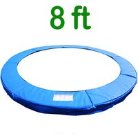 Greenbay Replacement Trampoline Surround Pad Foam Safety Guard Spring Cover Padding Pads Blue 8FT