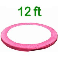 Greenbay Replacement Trampoline Surround Pad Foam Safety Guard Spring Cover Padding Pads Pink 12FT