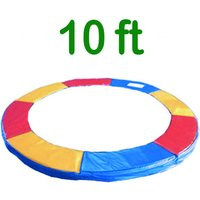 Greenbay Replacement Trampoline Surround Pad Foam Safety Guard Spring Cover Padding Pads Tri-Colour 10FT
