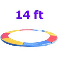 Greenbay Replacement Trampoline Surround Pad Foam Safety Guard Spring Cover Padding Pads Tri-Colour 14FT