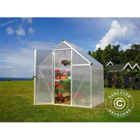 Dancover - Greenhouse polycarbonate 2.3 m², 1.85x1.26x2.08 m, Silver