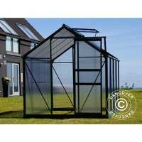 Dancover - Greenhouse Polycarbonate 3.64m², 1.9x1.92x2.01 m, Green