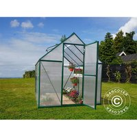 Dancover - Greenhouse polycarbonate 4.6 m², 1.85x2.47x2.08 m, Green