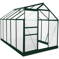 Monster Shop - Greenhouse Polycarbonate 6ft x 10ft With Base (Green)