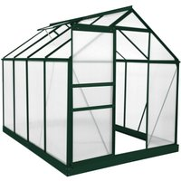 Monster Shop - Greenhouse Polycarbonate 6ft x 8ft With Base (Green)