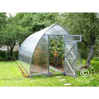 Dancover - Greenhouse Polycarbonate, Arrow 20.8 m², 2.6x8 m, Silver