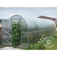 Greenhouse Polycarbonate, Duo 12 m², 2x6 m, Silver