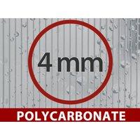 Greenhouse Polycarbonate Extension, Arrow, 5.2 m², 2.6x2 m, Silver