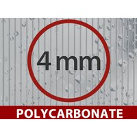 Dancover - Greenhouse Polycarbonate Extension, Strong, 6 m², 3x2 m, Silver