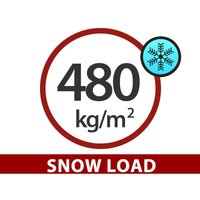 Greenhouse Polycarbonate Extension, TITAN Classic 480, 4.7 m², 2.35x2 m, Silver