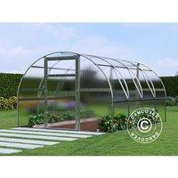 Greenhouse polycarbonate TITAN Arch 280, 12 m², 3x4 m, Silver