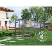 Greenhouse polycarbonate TITAN Arch 320, 18 m², 3x6 m, Silver