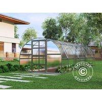 Greenhouse polycarbonate TITAN Arch 320, 24 m², 3x8 m, Silver