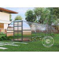 Greenhouse polycarbonate TITAN Arch 320, 30 m², 3x10 m, Silver