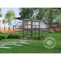 Greenhouse polycarbonate TITAN Arch 320, 6 m², 3x2 m, Silver