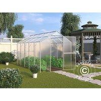 Greenhouse polycarbonate TITAN Classic 240, 6.6 m², 2x3.3 m, Silver