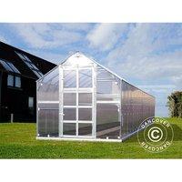 Dancover - Greenhouse polycarbonate TITAN Classic 480, 19.1 m², 2.35x8.12 m, Silver