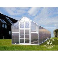 Dancover - Greenhouse polycarbonate TITAN Classic 480, 23.8 m², 2.35x10.12 m, Silver