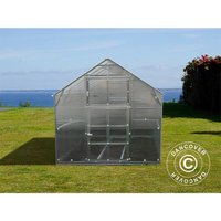 Greenhouse polycarbonate TITAN Classic 480, 4.9 m², 2.35x2.12 m, Silver