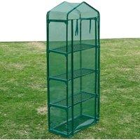 Greenhouse with 4 Shelves - Green - ZQYRLAR