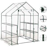 Greenhouse with 8 Shelves 143x143x195 cm - YOUTHUP