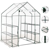 Greenhouse with 8 Shelves 143x143x195 cm - VIDAXL