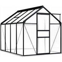 Greenhouse with Base Frame Anthracite Aluminium 4.75 m² - VIDAXL