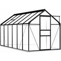 Greenhouse with Base Frame Anthracite Aluminium 7.03 m² - VIDAXL