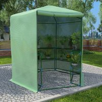 Greenhouse with Shelves Steel 227x223 cm - VIDAXL