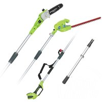 G40PSH Cordless 40v Pole Saw and Long Reach Hedge Trimmer Bare Unit - Greenworks
