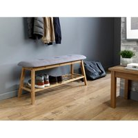 Grey And Bamboo Hallway Shoe Storage Bench - HOUSE and HOMESTYLE
