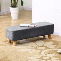 Grey Fabric Ottoman Footstool Seat Pouffe Stool Bench Footre
