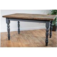 Grey Farmhouse Dining Table 122 cm