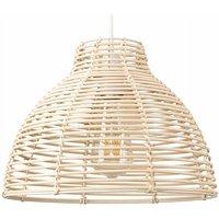 Minisun - Wicker Rattan Basket Ceiling Pendant Light Shade - Cream