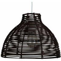 Minisun - Wicker Rattan Basket Ceiling Pendant Light Shade - Brown