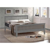Grey Wooden Bed Frame - Double 4ft 6