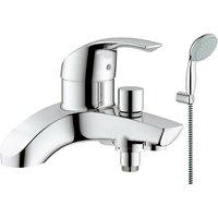 25105 Eurosmart Deck Mounted Single Lever Bath Shower Mixer 27799 Head Set - Grohe