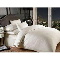 Grosvenor Cream 1000TC Housewife Pillowcase Satin Stripe Hotel Quality Bedding Linen
