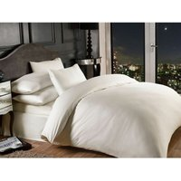 Grosvenor Cream 1000TC Oxford Pillowcase Satin Stripe Hotel Quality Bedding Linen